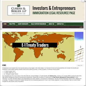 Curran & Berger LLP Legal Resources for Immigrant Investors & Entrepreneurs