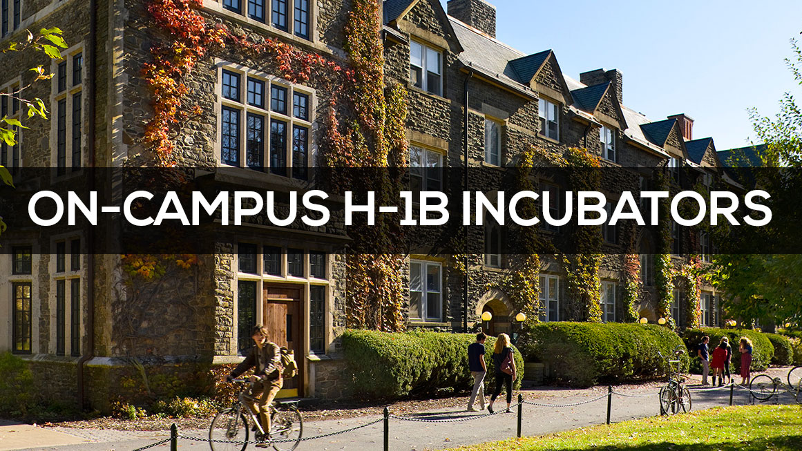 International Entrepreneurs On-Campus H-1B Incubators